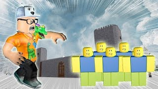ROBLOX: THE ARMY OF NOOBS INVADED THE GIANT CASTLE!! -Play Old man