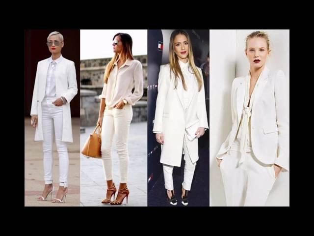 Outfits de moda con blazer blanco