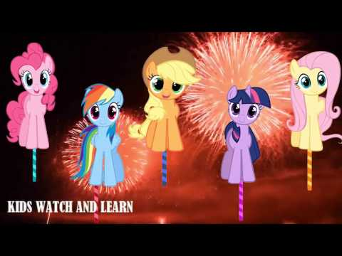 LOLLIPOP FINGER FAMILY MY LITTLE PONY NURSERY RHYMES FIREWORKS BABY SONG