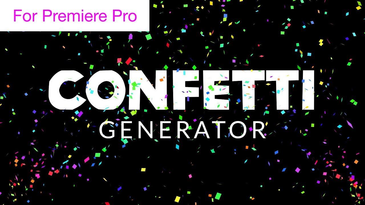 confetti cannon overlay generator motion graphics template youtube