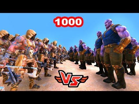 1000 OSMANLI DELİLER VS THANOS 😱 - Süper Kahramanlar