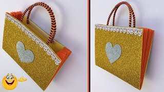 DIY How to make ladies hand bag | Purse Using paper | Best Out Of Waste Craft | Paper Bag Ideas