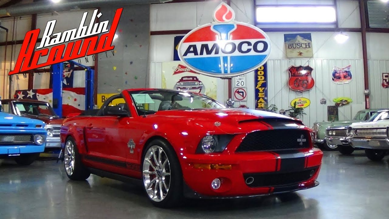 Test driving 2007 shelby gt500 super snake convertible 635 hp youtube