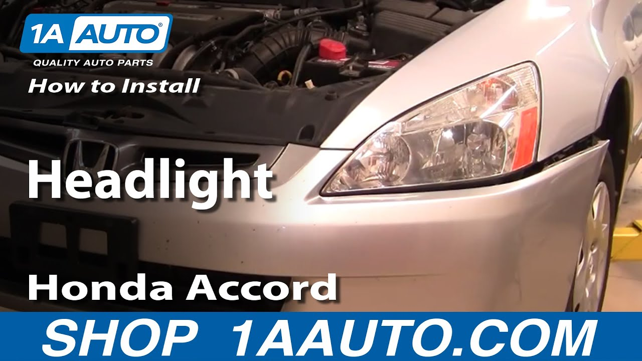 How To Replace Headlight 03 07 Honda Accord Youtube
