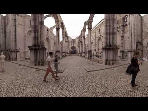 360 video: Inside Carmo Convent, Lisbon, Portugal