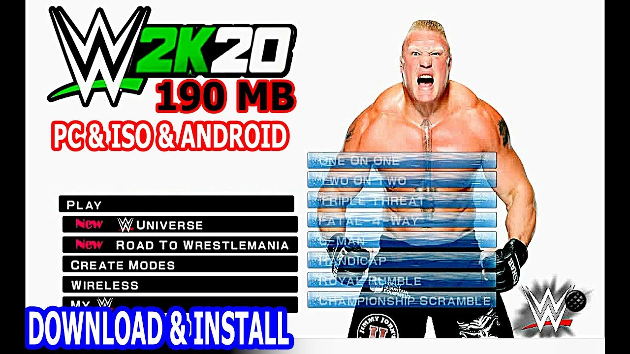 Wwe 2k20 Apk Download For Android Speedsitebroker
