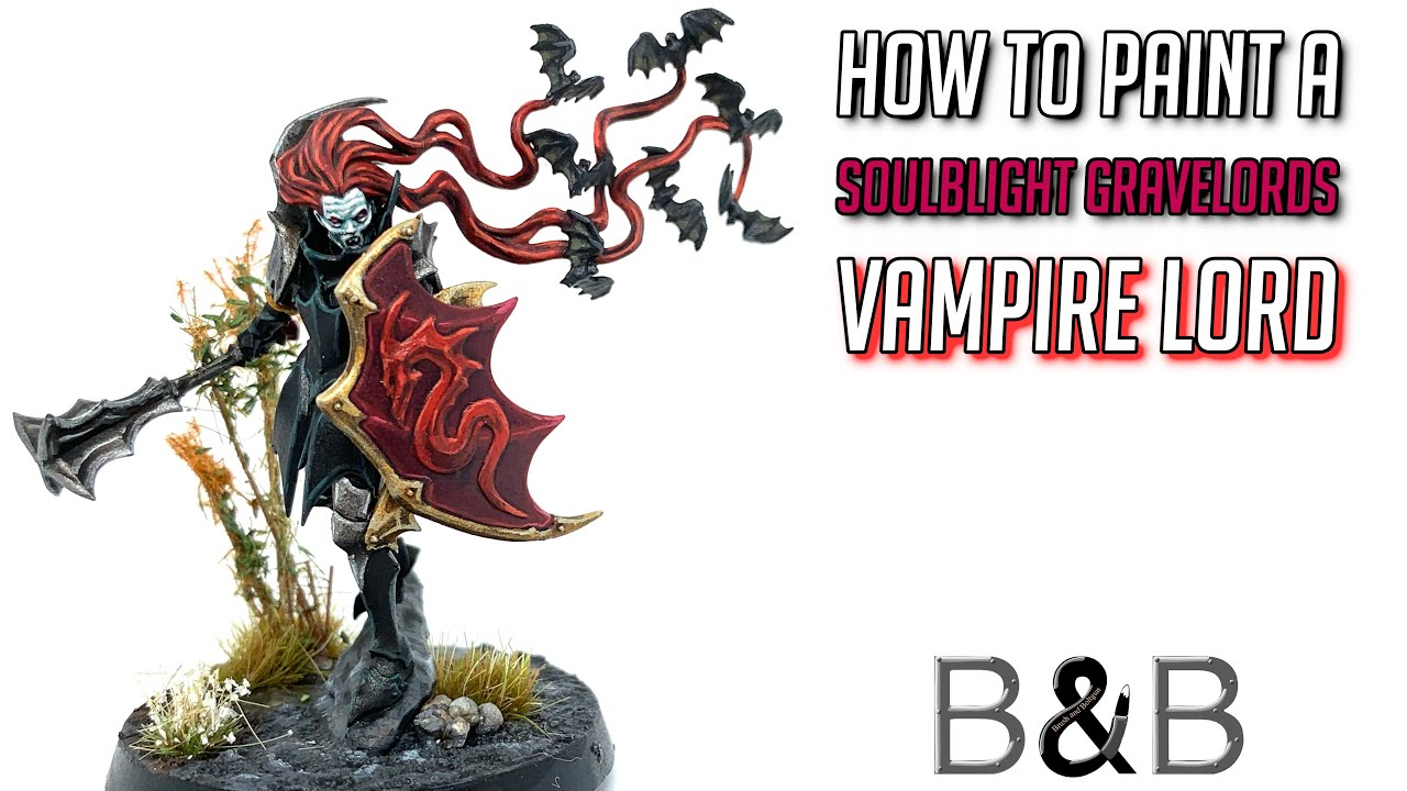 How to paint a Soulblight Gravelords Vampire Lord