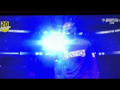The Black Mamba Kobe Bryant introduced & honored for the last time in Detroit at the Palace 12-6-15