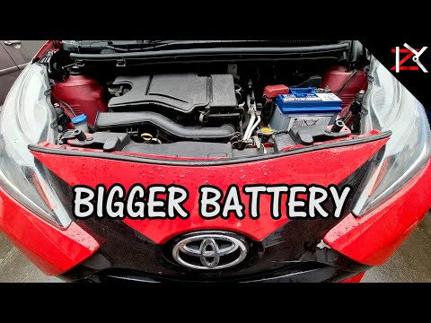 How To Install A Car Battery | BIGGER Battery In Smaller Car | Peugeot 107, Toyota Aygo, Citroen C1