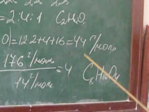 Вывод формулы вещества