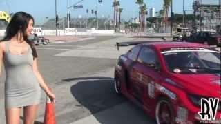 Melyssa Grace distracting Drivers at Formula Drift