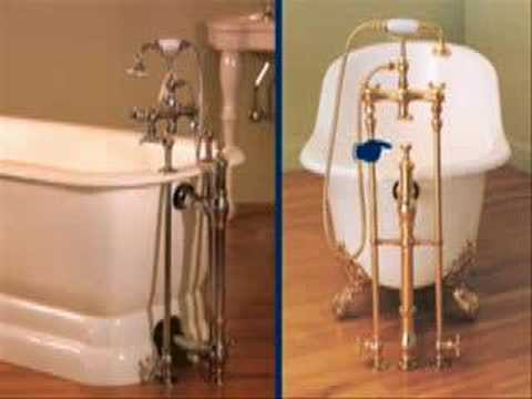 plumbing a clawfoot tub. Choosing a Drain for Clawfoot Tub  YouTube