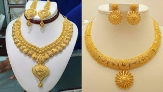 New gold necklace set design ideas 2019