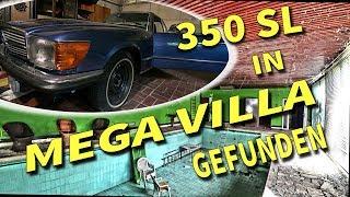 Lost Place... Villa mit.Daimler 350 SL  in der Garage & Schwimmhalle im Garten