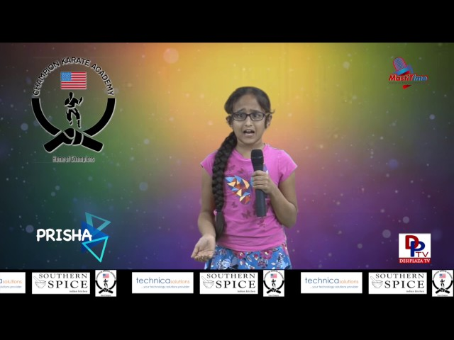 "Prisha speaking about ""Good manners"" in Talking Bee - Public Speaking competitions 2016"