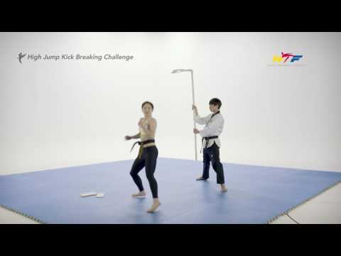High Jump Kick Breaking Challenge