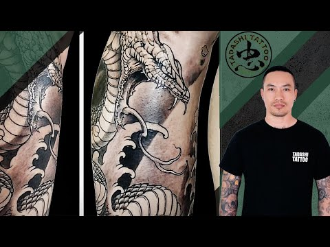 Mãn nhãn với HÌNH XĂM RẮN full trên chân | Snake Tattoo