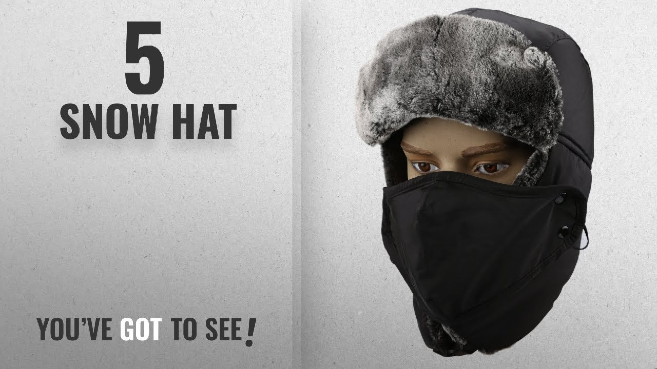 255f0d233 Top 10 Snow Hat [2018]: Warm Unisex Winter Trapper Trooper Hat, Mysuntown  Unisex Classic Winter