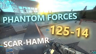 125-14 WITH THE SCAR-HAMR in PHANTOM FORCES!! (roblox)