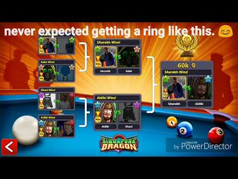 Singapore ring... Another golden feather in my 8ball pool account 😎