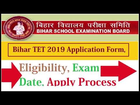 Bihar TET 2019 Application Form Last Date, Exam Date, Applying Process
