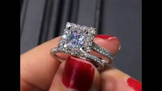 Gabriel & Co. Princess Cut Engagement Ring