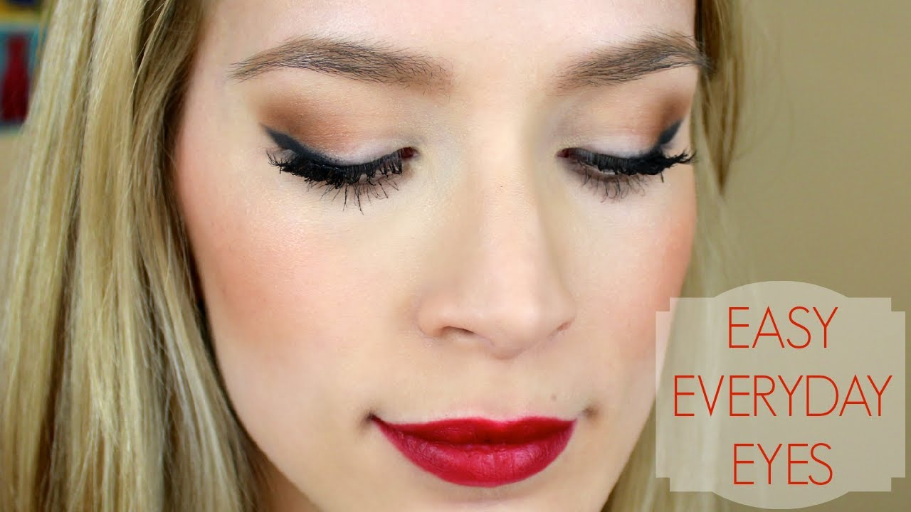Pretty + Easy Eye Makeup Tutorial - YouTube
