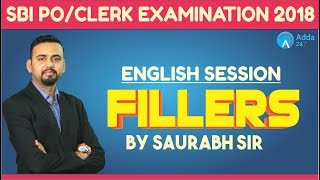 SBI PO/CLERK | FILLERS | English | Saurabh sir thumbnail