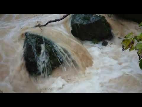 זרימה חזקה בנחל הבניאס בעקבות הגשמים