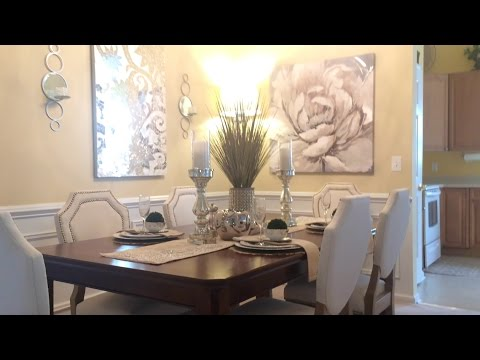 decorate a small dining room | Dining Room Decorating Ideas|Glam Tour - YouTube