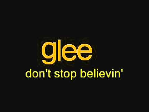 Don't Stop Believin' - Glee Cast Version - Karaoke - Sing with Finn