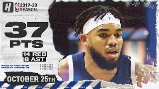 Gambar cover Karl-Anthony Towns CRAZY Full Highlights vs Hornets (2019.10.25) - 37 Pts, 14 Reb, 8 Ast!