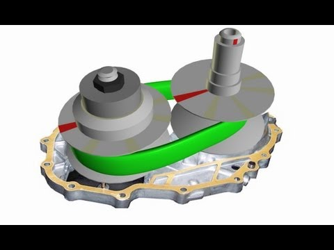 CVT Transmission Belt to Pulley Clamping