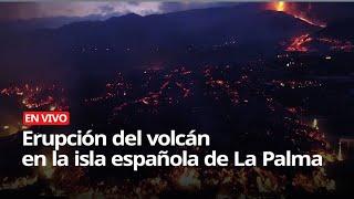 Erupción Del Volcán En La Isla Española De La Palma