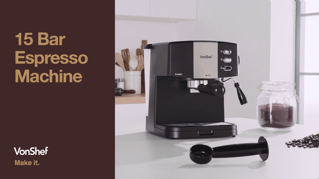 Vonshef 15 Bar Espresso Machine