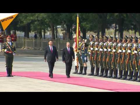 Vladimir Poutine en visite à Pékin