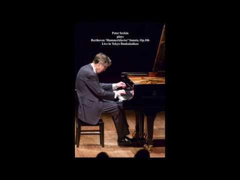 """Peter Serkin: Beethoven """"Hammerklavier"""" Sonata, Op.106, Live (Score-video)"""