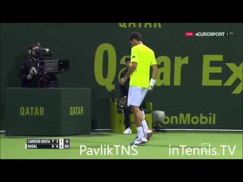 Rafael Nadal vs Pablo Carreño Busta Highlights ᴴᴰ DOHA 2016