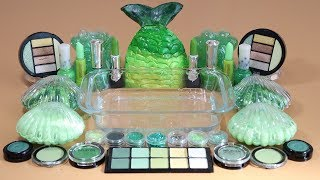 """One Color Series Season 7"" Mixing ""Green""Makeup,More Stuff &Green Slime Into slime!"
