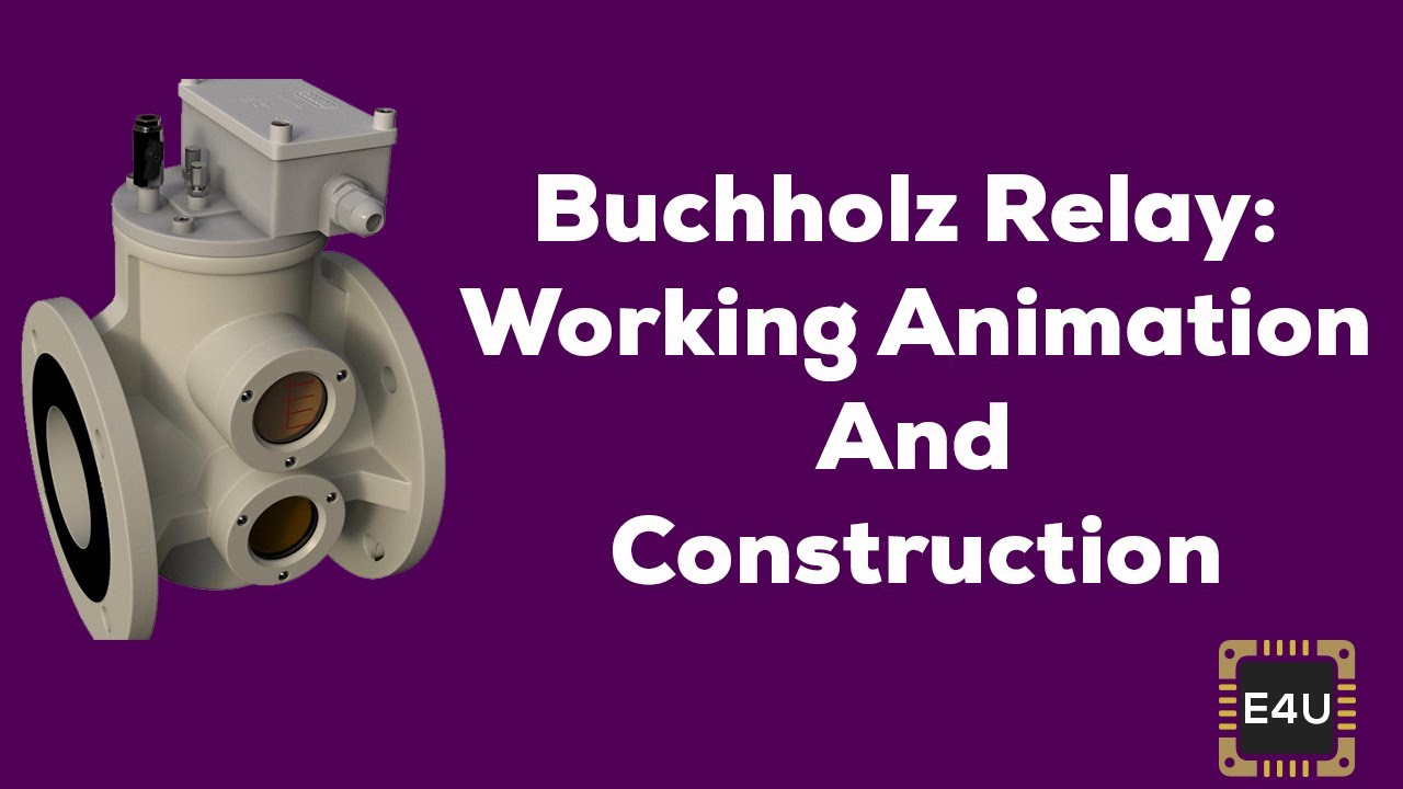 hight resolution of buchholz relay working animation and construction