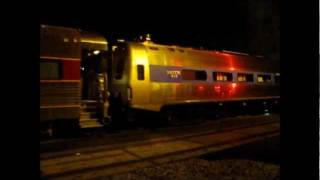 Night at Lumber St & 16th St: Amtrak, Metra, BNSF & CN, Plus Amtrak 540 w/ FRA Car & Dome, 10.12.11