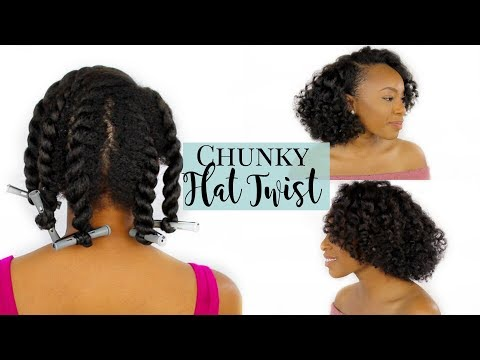 Chunky Flat Twist Out With Perm Rods on Natural Hair | Perfect for Heat Damaged/Transitioning Hair