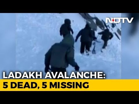 5 Dead, 5 Trapped As Avalanche Hits SUV In Khardung La Pass, Ladakh