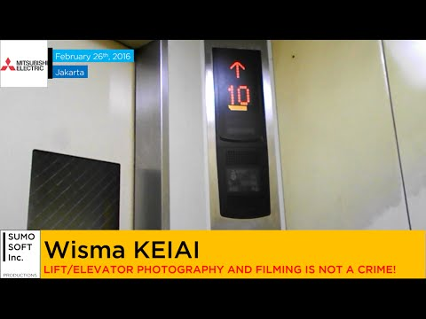 Mitsubishi Glass Parking Lifts at Wisma KEIAI, Jakarta