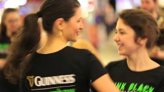 Guinness flash mob in mall Baneasa