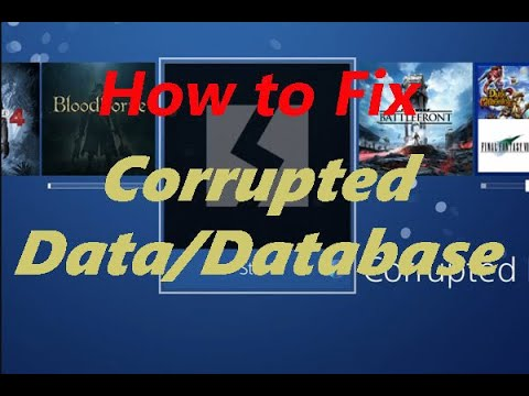 How to fix ps4 corrupted data