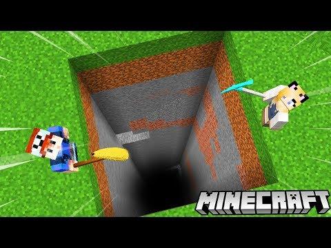 WYKOPALIŚMY NAJWIĘKSZĄ DZIURĘ W MINECRAFT (Mining Simulator) | Vito Vs Bella