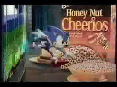 Sonic The Hedgehog Honey Nut Cheerios Commercial Youtube