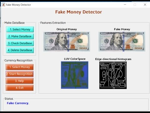Currency Recognition Matlab Code GUI