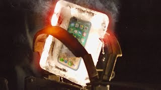 Red Hot Bear Trap VS iPhone X Frozen in ICE! Will It Survive?